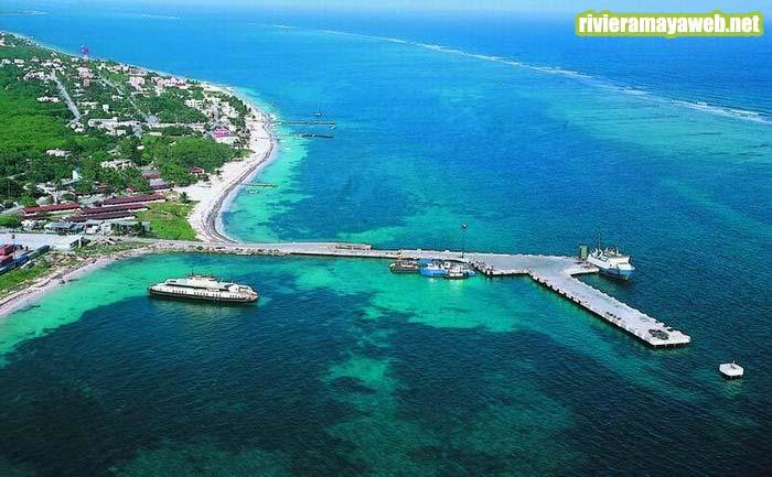 Vista aerea de Puerto Morelos