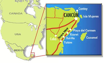 Localización y situación de la Riviera Maya